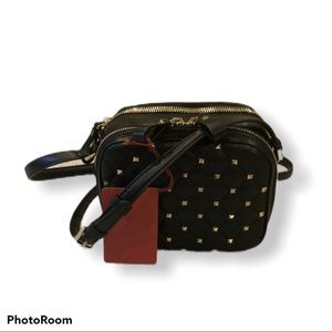 Valentino Quilted Leather Rockstud Crossbody